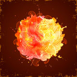 Watercolor splash. Abstract bright fire on the dark background Royalty Free Stock Photos