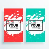 Watercolor splash banners set abstract. Illustration Royalty Free Stock Images