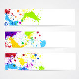 Watercolor splash banners Royalty Free Stock Image