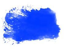 Watercolor splash blue. Dirty splash of blue watercolor stock photos