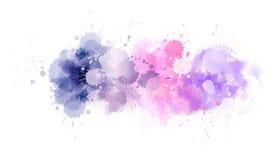 Watercolor splash line stock illustration