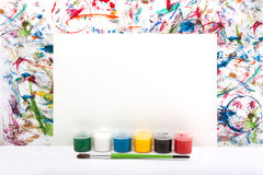 Watercolor, splash, paper Royalty Free Stock Photos