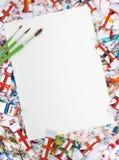 Watercolor, splash, paper stock photos