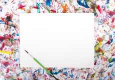 Watercolor, splash, paper Stock Image