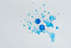 Watercolor splash on paper Royalty Free Stock Photography