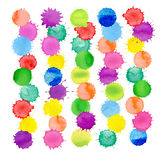 Watercolor splash texture. Watercolor splashes isolated. Royalty Free Stock Photos