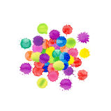 Watercolor splash texture. Watercolor splashes isolated. Stock Images