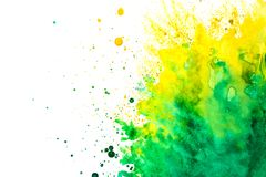 Watercolor splash on white background. stock images
