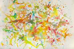 Watercolor Splashes Royalty Free Stock Photos