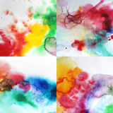 Watercolor splashes background Royalty Free Stock Photos