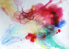 Watercolor splashes background Royalty Free Stock Image