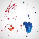 Watercolor splashes. Bright watercolor splashes isolated on white background Stock Images