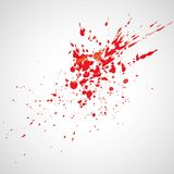 Watercolor splashes. Bright watercolor splashes isolated on white background Stock Photo