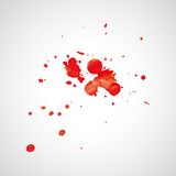 Watercolor splashes. Bright watercolor splashes isolated on white background Stock Photos