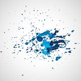 Watercolor splashes. Bright watercolor splashes isolated on white background Royalty Free Stock Photography