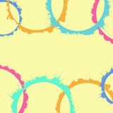 Watercolor splashes, colorful  circles shapes Royalty Free Stock Images