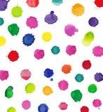 Watercolor splashes Stock Photo