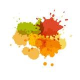 Watercolor splashes. Paint vector splat. Stock Photo