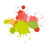Watercolor splashes. Paint vector splat. stock illustration