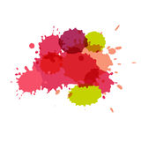 Watercolor splashes. Paint vector splat. royalty free illustration