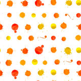 Watercolor Splashes Pattern Stock Photo