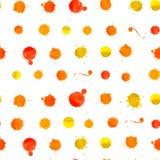 Watercolor Splashes Pattern Stock Photo