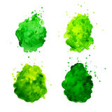 Watercolor splashes. Royalty Free Stock Images