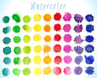 Watercolor splashes set Royalty Free Stock Image