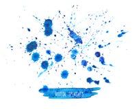 Watercolor Splashes Set Royalty Free Stock Photo