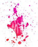 Watercolor splashes on the white. Stock Image