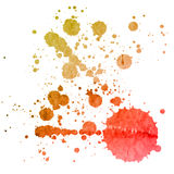Watercolor splashes on the white. Royalty Free Stock Images