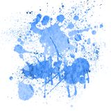 Watercolor splashes on the white. Stock Images