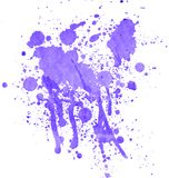 Watercolor splashes on the white. Stock Photo