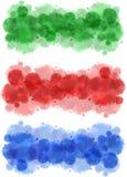 Watercolor splatters borders Stock Image
