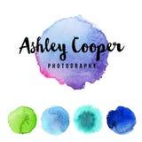 Watercolor splatters Stock Images