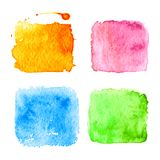 Watercolor splatters. Vector Royalty Free Stock Photos