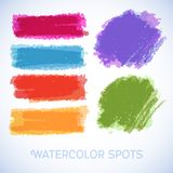 Watercolor splatters. Vector. Beautiful watercolor Royalty Free Stock Photos
