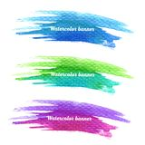 Watercolor splatters. Vector Royalty Free Stock Image