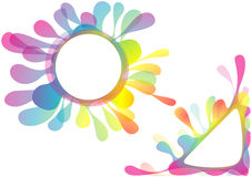 Watercolor Splotch Design. Circular and Corner Shape Illustration, Vector Stock Photos
