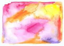 Watercolor spot abstract background Stock Image