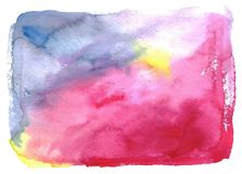 Watercolor spot abstract background Stock Photos