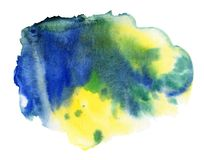 Watercolor spot, isolated on a white background royalty free stock photo
