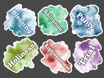 Watercolor spot. Set of colors texture blots - Collection sticke Royalty Free Stock Photo