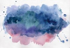 Bright watercolor spot. Abstract background Royalty Free Stock Photos