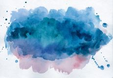 Bright watercolor spot. Abstract background Royalty Free Stock Images