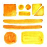 Watercolor spots, . Vector design elements. Brush paint. Stock Photography