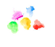Watercolor spots on white. Stock Images