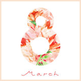 Watercolor spring card. Royalty Free Stock Images