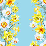 Watercolor spring floral pattern Royalty Free Stock Images
