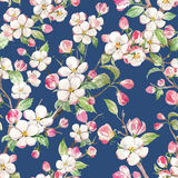Watercolor spring floral pattern Royalty Free Stock Photo